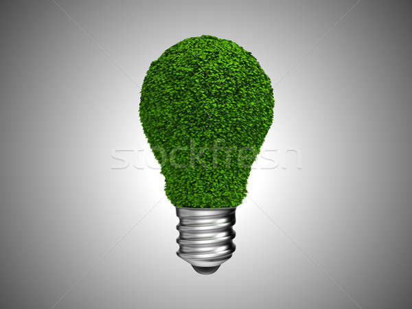 Lightbulb with green leaves Stock photo © Arsgera