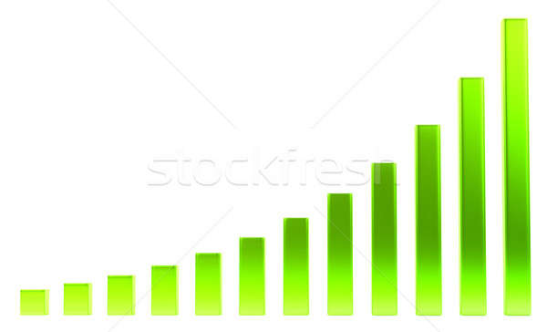 Success: green diagram or chart  Stock photo © Arsgera