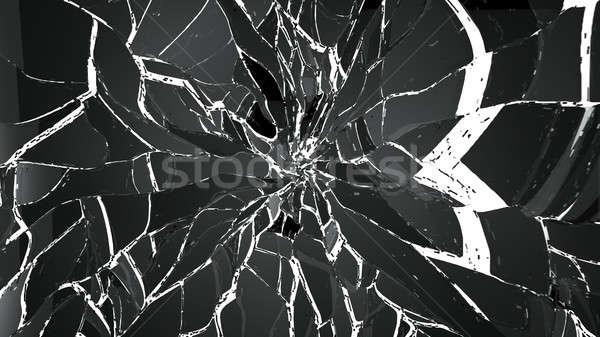 сломанной треснувший стекла белый большой разрешение Сток-фото © Arsgera
