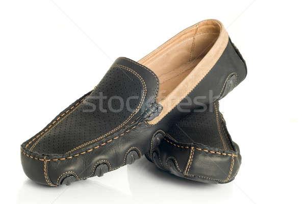 Modern black mens moccasins Stock photo © Arsgera