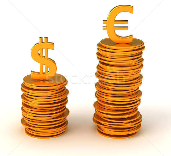 Currency inequality - US dollar and Euro Stock photo © Arsgera