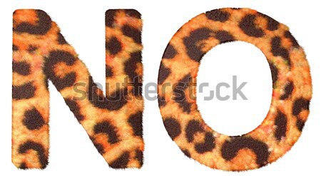 Stock photo: Leopard fur L and M letters isolated