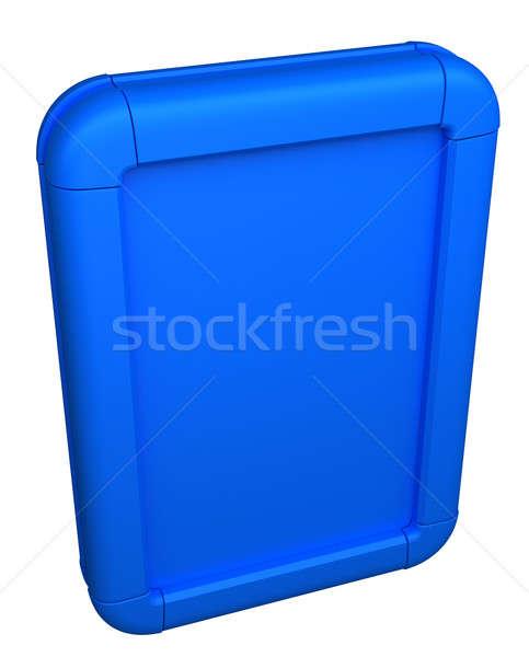 Blue Billboard or lightbox on white Stock photo © Arsgera