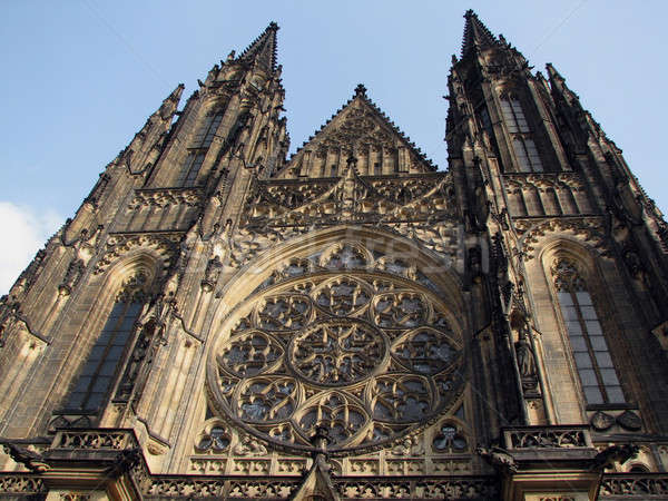 Saint Vitus Cathedral in Prague  Stock photo © Arsgera
