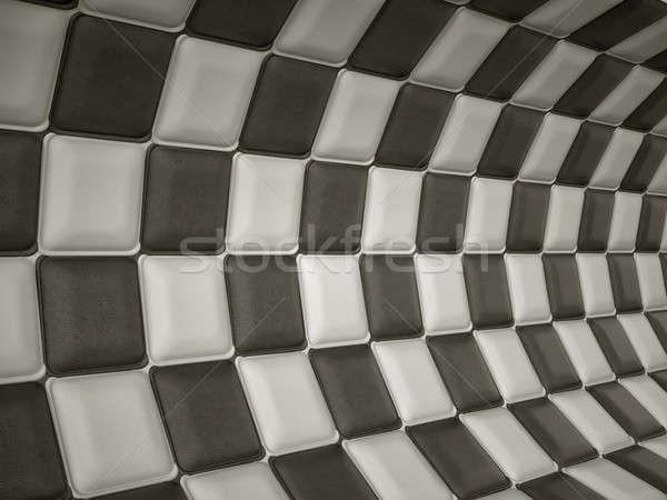 Kockás bőr minta téglalap nagy döntés Stock fotó © Arsgera