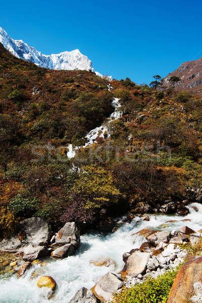 пейзаж Гималаи потока походов Непал природы Сток-фото © Arsgera