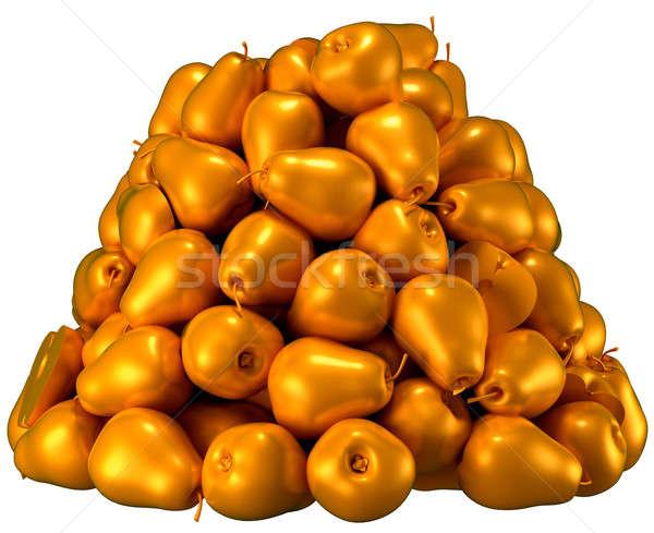 Złoty gruszki biały cg Zdjęcia stock © Arsgera