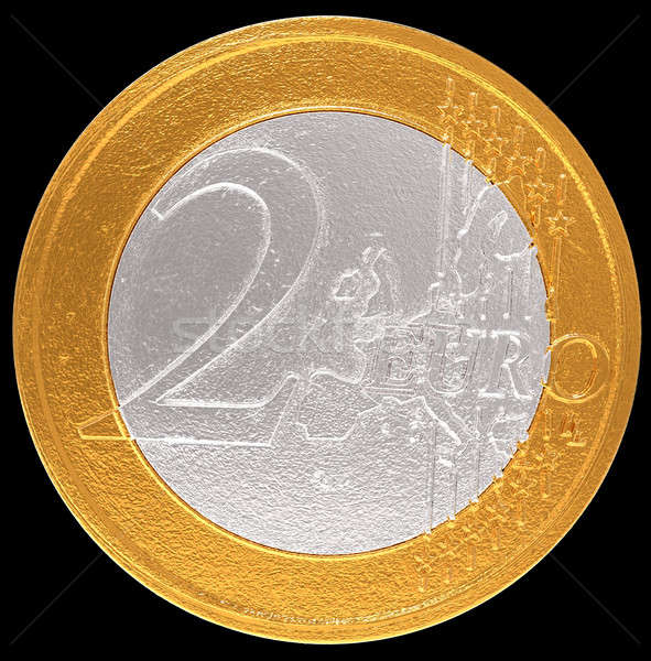 Stock photo: 2 Euro: European Union currency