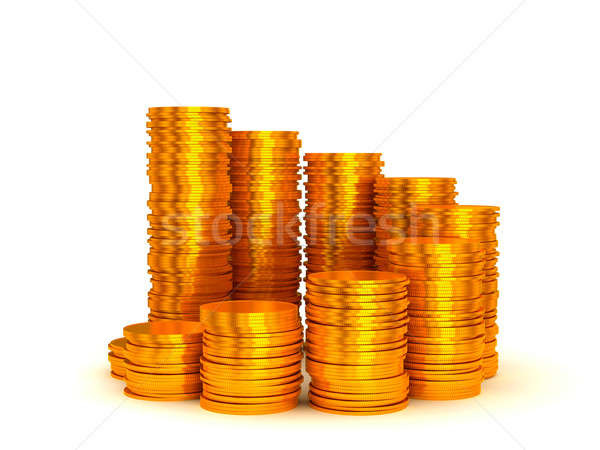 Growth and earnings: coins stacks Stock photo © Arsgera