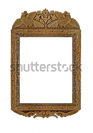 Carved Wooden Frame for picture or portrait  Stock photo © Arsgera