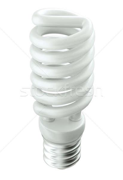 Energia hatékony technológia villanykörte fehér izolált Stock fotó © Arsgera