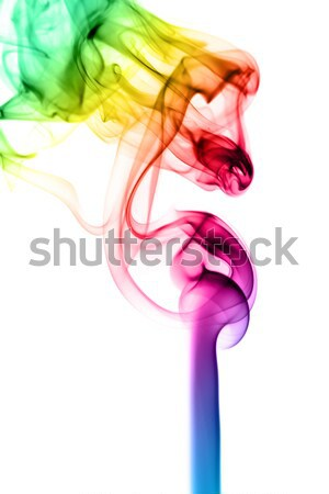 Abstract gradient fume pattern on white  Stock photo © Arsgera