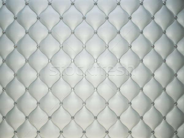 Luksusowe szary skóry diamentów przydatny wzór Zdjęcia stock © Arsgera