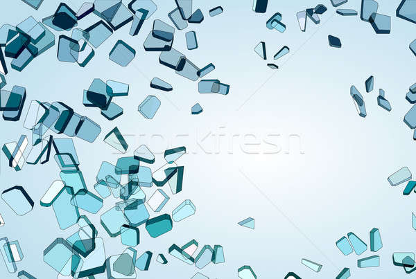 Pieces of Broken or Shattered blue glass Stock photo © Arsgera