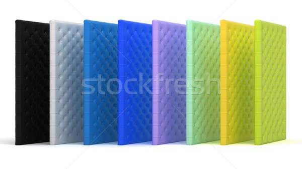 Colorful luxury mattresses over white Stock photo © Arsgera