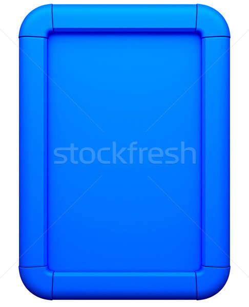 Blue advertising lightbox isolated Stock photo © Arsgera