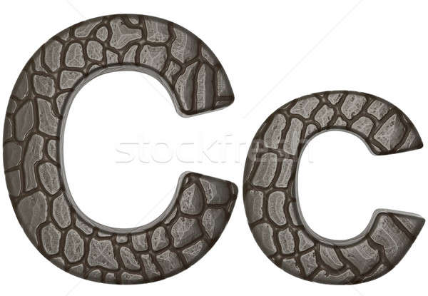 Alligator skin font C lowercase and capital letters Stock photo © Arsgera