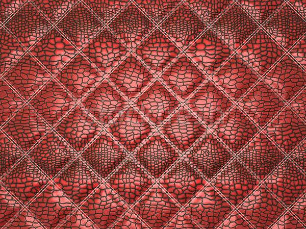 Czerwony aligator skóry przydatny moda tle Zdjęcia stock © Arsgera