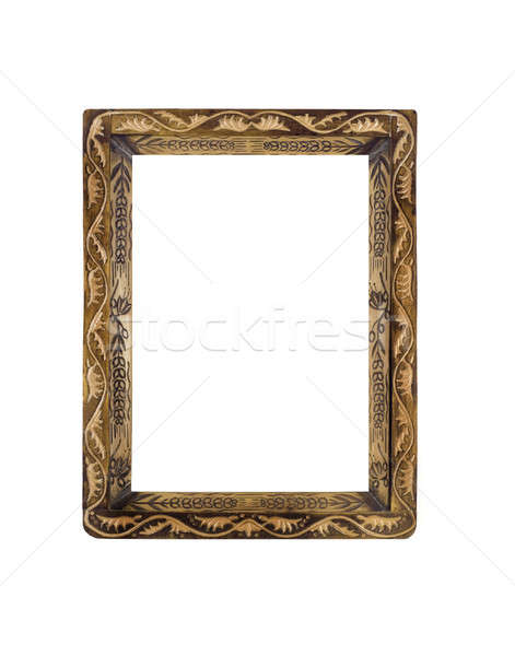 Obsolete wooden Frame for picture or portrait over white  Stock photo © Arsgera