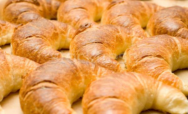 завтрак группа вкусный полумесяц круассаны Сток-фото © Arsgera