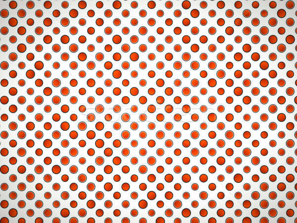 Polka dot pattern with red circles on white Stock photo © Arsgera