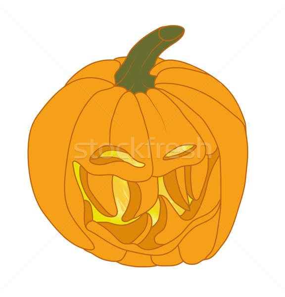 Rosszakaratú halloween tök mosolyog ünnep illusztráció arc Stock fotó © Arsgera