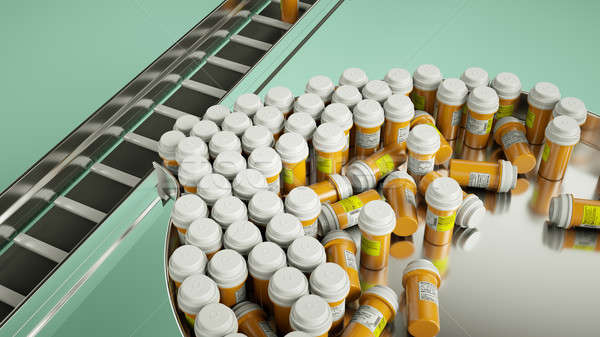 pharmaceutical business manufacturing pills and drugs Stock photo © Arsgera