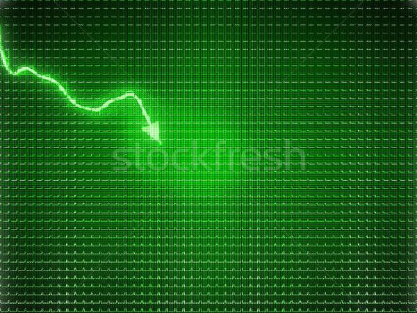 Groene trend symbool economie drop financiële crisis Stockfoto © Arsgera