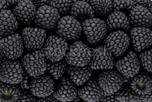 черный BlackBerry текстуры cg оказывать продовольствие Сток-фото © Arsgera