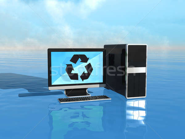 Eco-friendly computers Stock photo © Arsgera