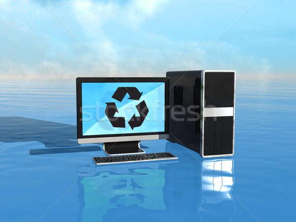 Computadoras guardar mundo reciclar hardware negocios Foto stock © Arsgera