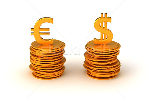 Euro and US dollar Currency equation Stock photo © Arsgera