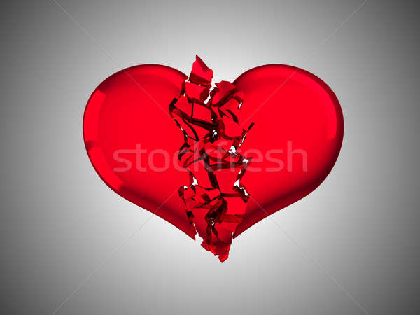 Rojo amor enfermedad gris corazón Foto stock © Arsgera