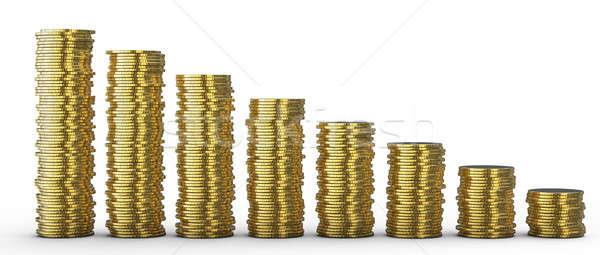 ストックフォト: 進捗 · 損失 · コイン · 金属 · 金融 · ステージ