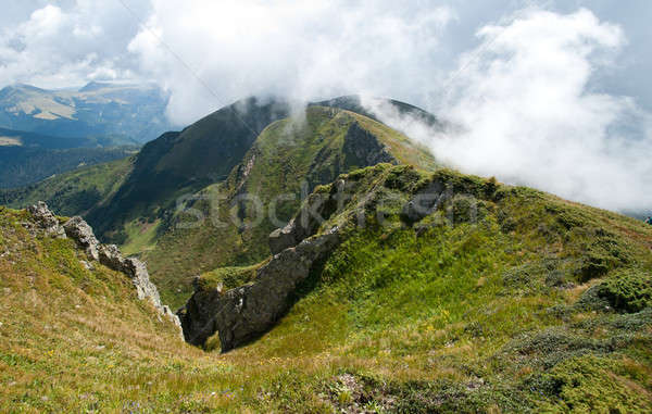 Carpathian mountains in Ukraine: on the ridge Stock photo © Arsgera