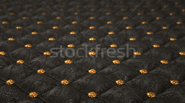 Alligator skin background with pattern and buttons Stock photo © Arsgera