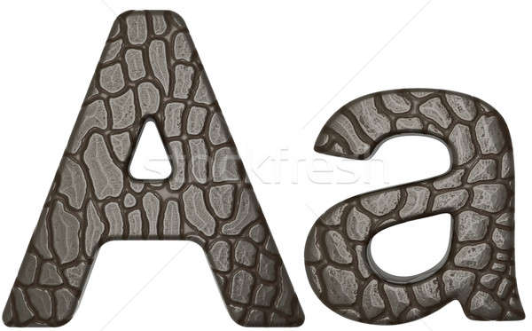 Alligator skin font A lowercase and capital letters Stock photo © Arsgera