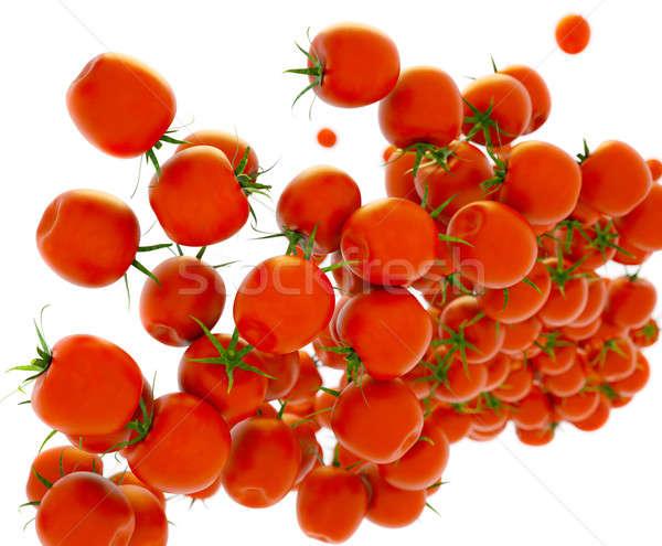 Tasty red tomatoes flow over white  Stock photo © Arsgera