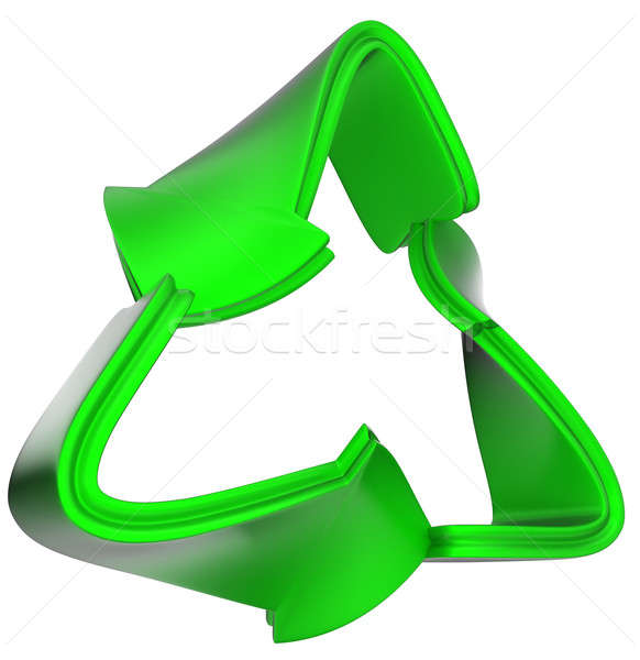 Foto d'archivio: Riciclaggio · verde · riciclare · simbolo · isolato · bianco