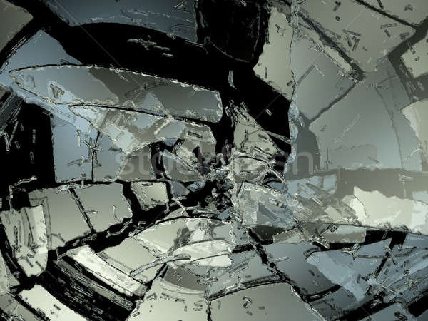 Many Pieces of demolished or Shattered glass  Stock photo © Arsgera