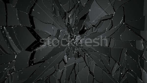 Repedt üveg fekete nagy döntés absztrakt Stock fotó © Arsgera