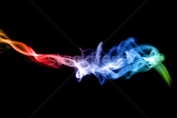 Stock photo: Puff of colorful Abstract fume
