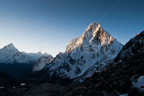 Himalayas: Cho La pass at dawn Stock photo © Arsgera