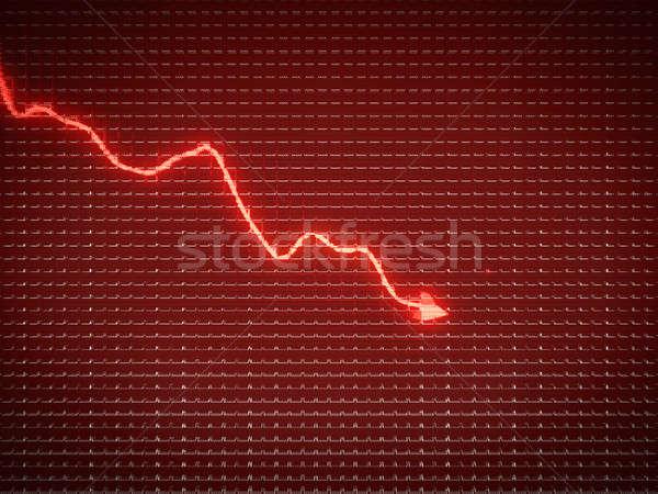 Vermelho tendência símbolo economia cair crise financeira Foto stock © Arsgera