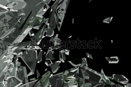 Scherp stukken geïsoleerd zwarte groot Stockfoto © Arsgera