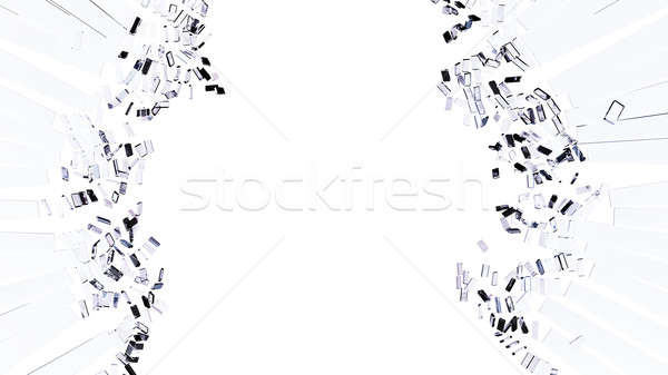 Damage and vandalism: Pieces of shattered glass Stock photo © Arsgera