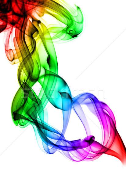 Complex colored Abstract fume swirls Stock photo © Arsgera