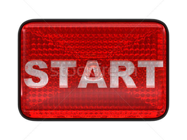 Start red button or headlight Stock photo © Arsgera
