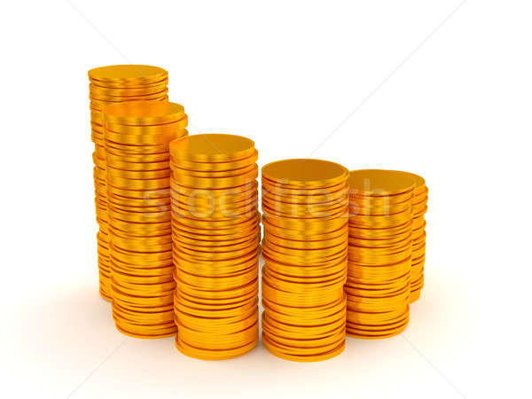 Growth: coins stacks semicircle shape  Stock photo © Arsgera