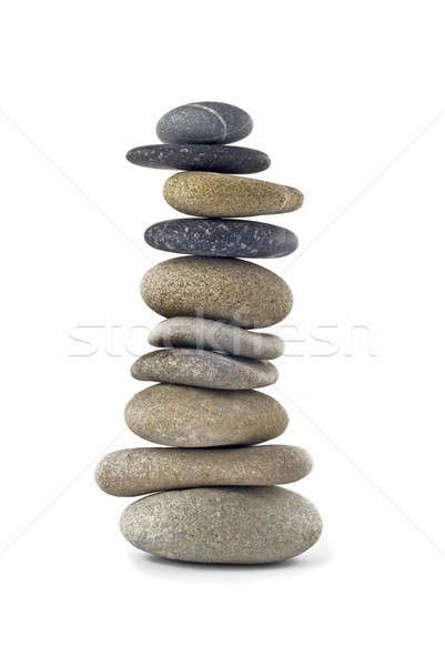 バランスのとれた 石 スタック 塔 孤立した 白 ストックフォト © Arsgera